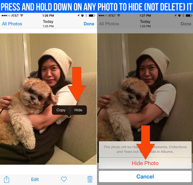 You can now hide photos to keep them from showing up in your photo stream.