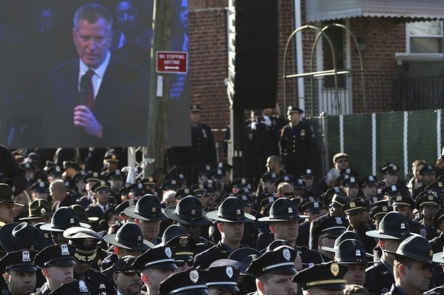 Image result for de blasio nypd