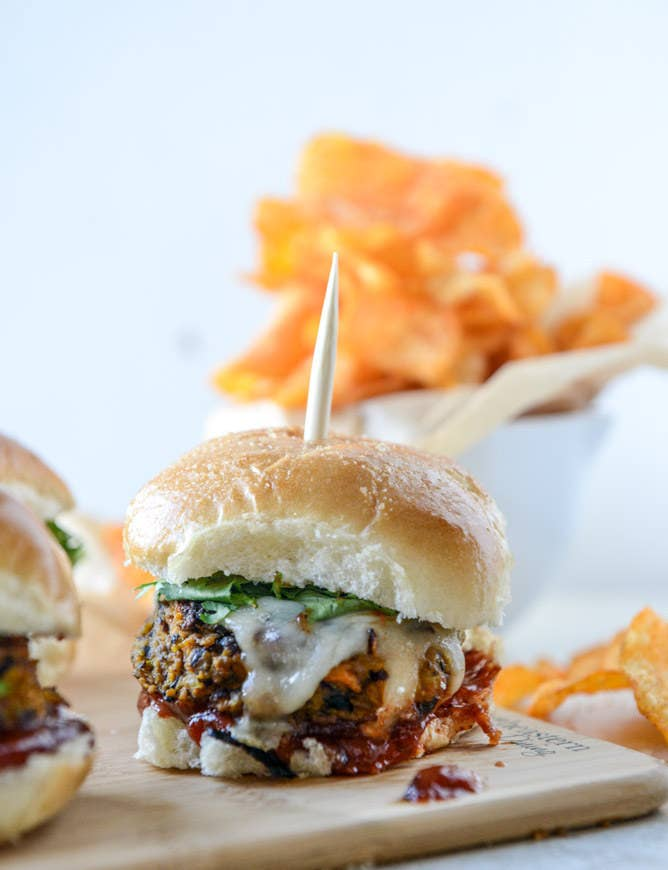 Get the recipe for these black bean and butternut burgers here.