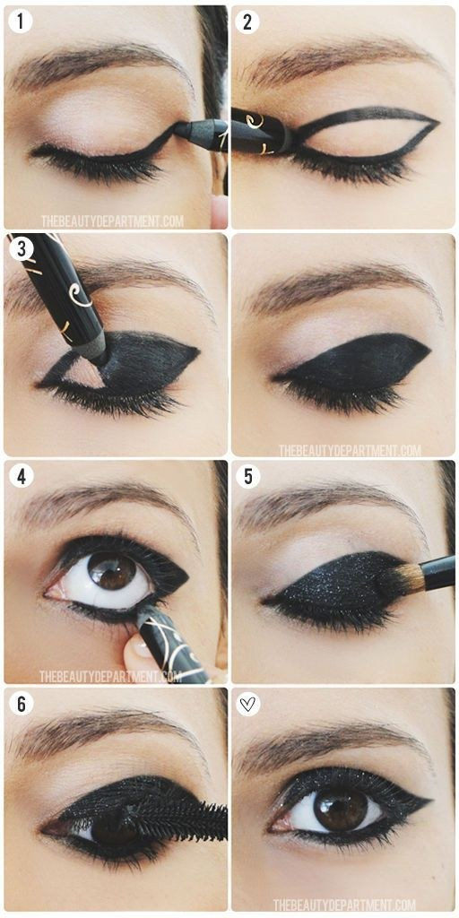 Smokey eye con brillantina: