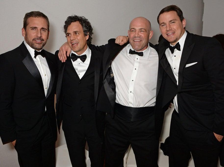 Steve Carell, Mark Ruffalo, Mark Schultz and Channing Tatum