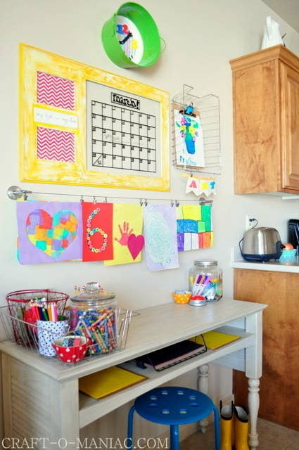 Put Together A Homework Station For Your Son Or Daughter To Study At