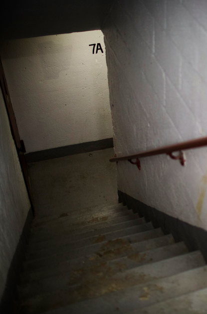 The stairwell where Akai Gurley was shot by officer Peter Liang.