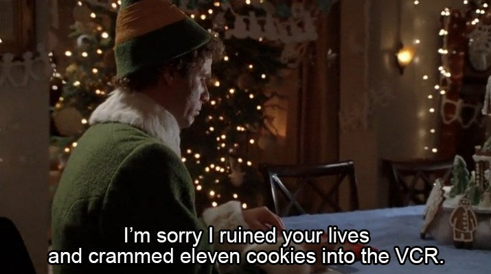 "Reason To Use It Today:If you ever do something terrible, it should be followed up with ""and crammed eleven cookies into the VCR"" to ease the tension."