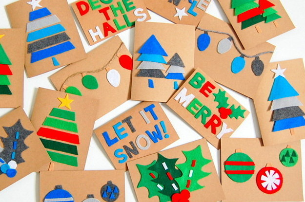 23 diy christmas cards you can make in under an hour - Create Christmas Cards