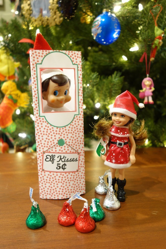 image relating to Elf on the Shelf Kissing Booth Free Printable called 18 Printables In the direction of Critically Up Your Elf Upon The Shelf Sport