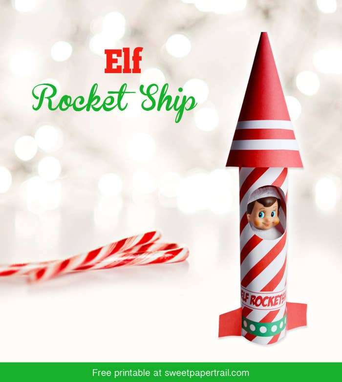 For those times your elf needs to get to the North Pole on the double. Download the free printable here.