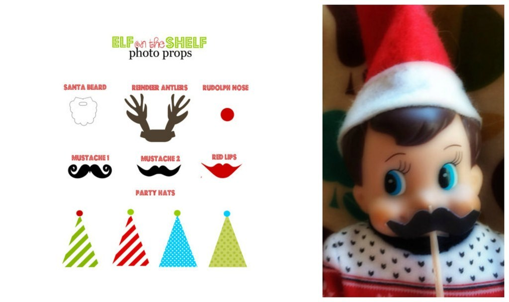 photograph about Elf on the Shelf Printable Props identified as 18 Printables Towards Definitely Up Your Elf Upon The Shelf Recreation