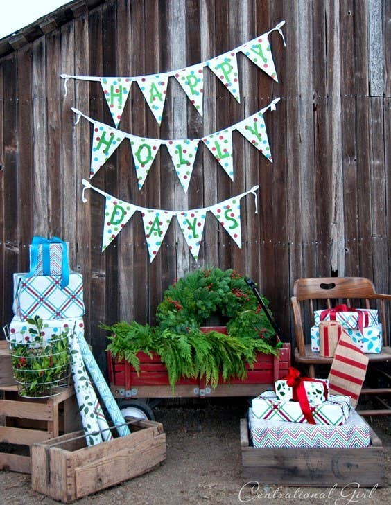 Instead of spending money on flimsy store-bought bunting, DIY your own with this tutorial. Bonus points for puns.