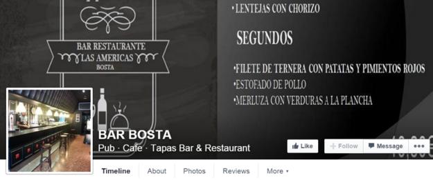 O Bar Bosta , em Bilbao.