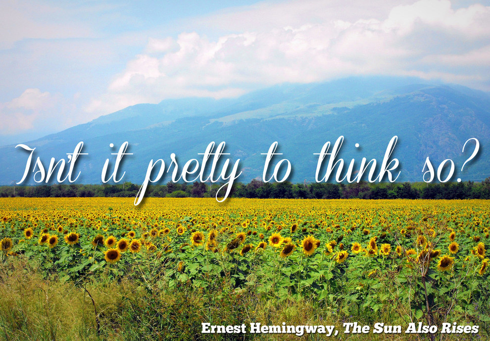 What are some good, meaningful lines from british literature or poetry?