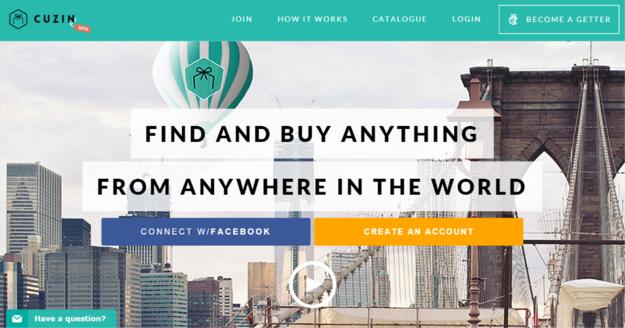 O site de compras Cuzin .