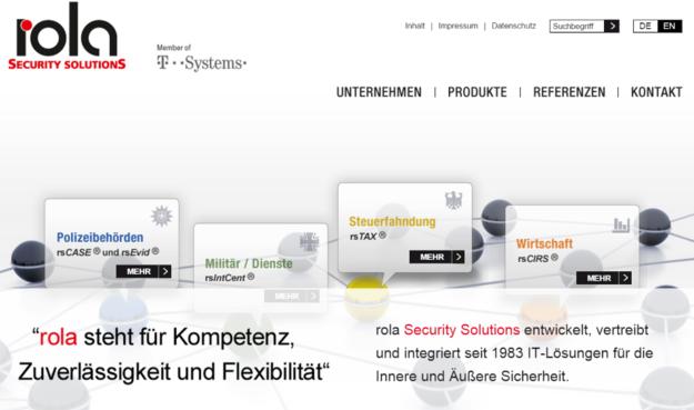 A Rola , empresa alemã de soluções de segurança.