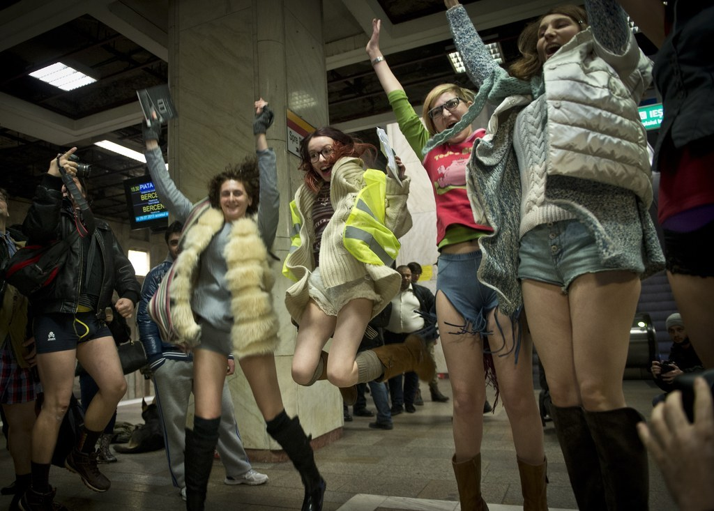 Pranksters Around The World Participate In No Pants Subway Ride