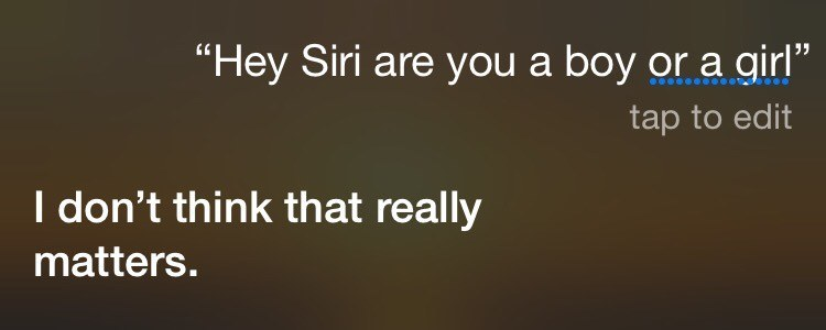 Apple's Siri Doesn't Have Time For Your Gender Expectations