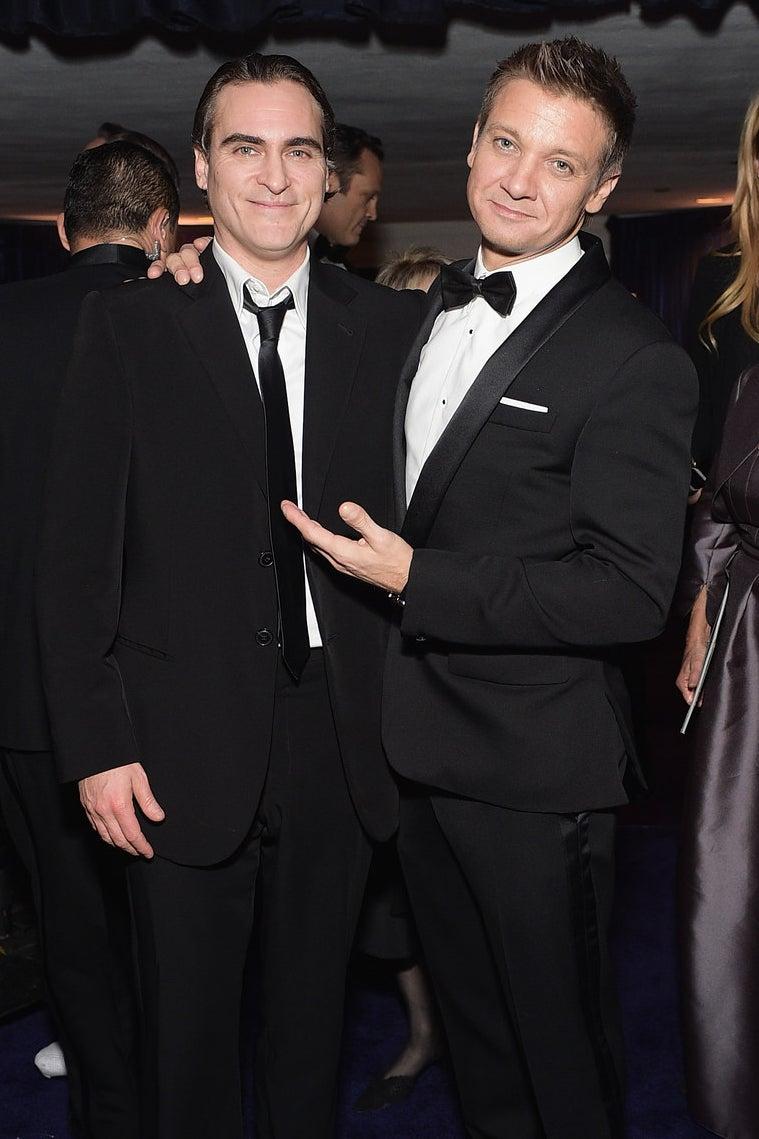 Joaquin Phoenix et Jeremy Renner
