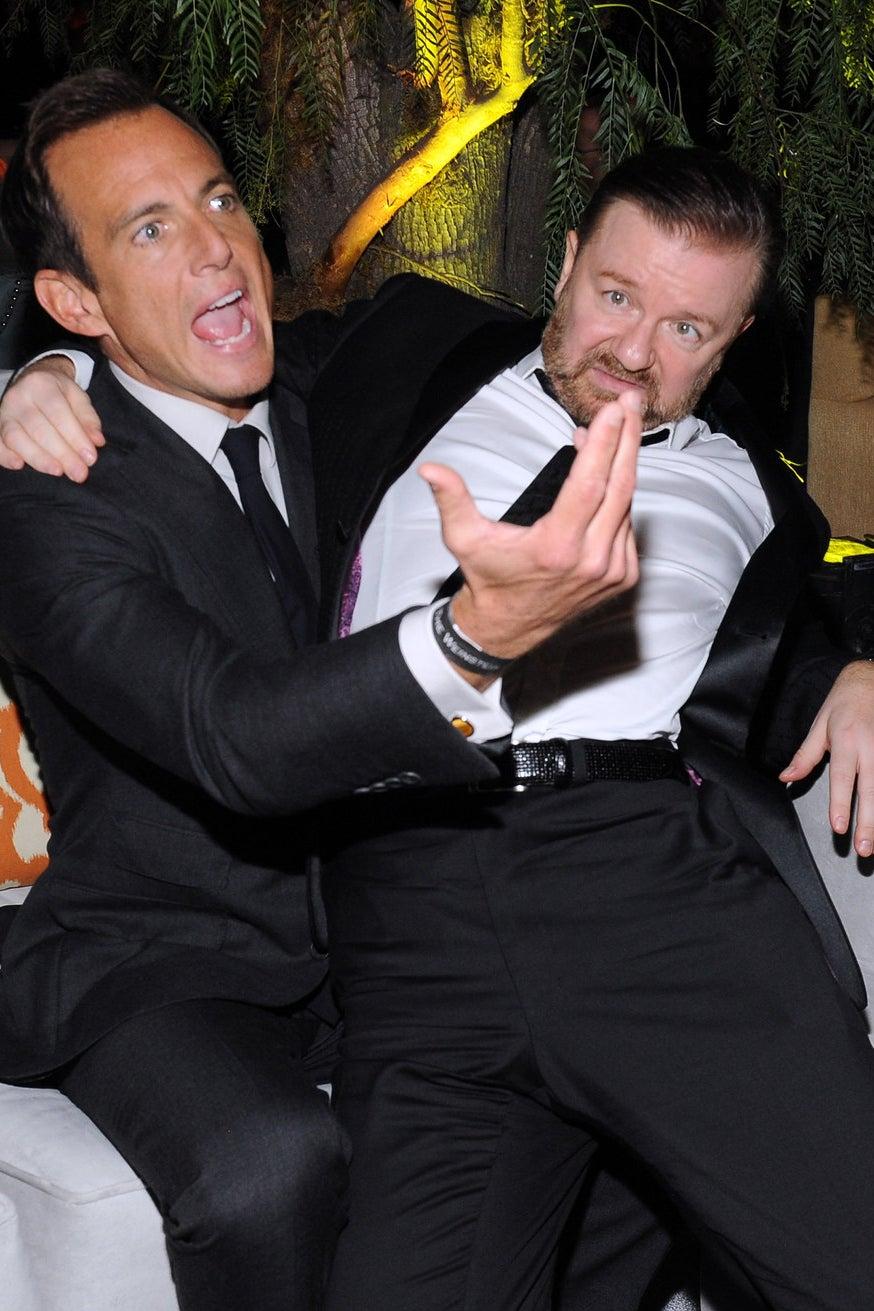 Will Arnett et Ricky Gervais