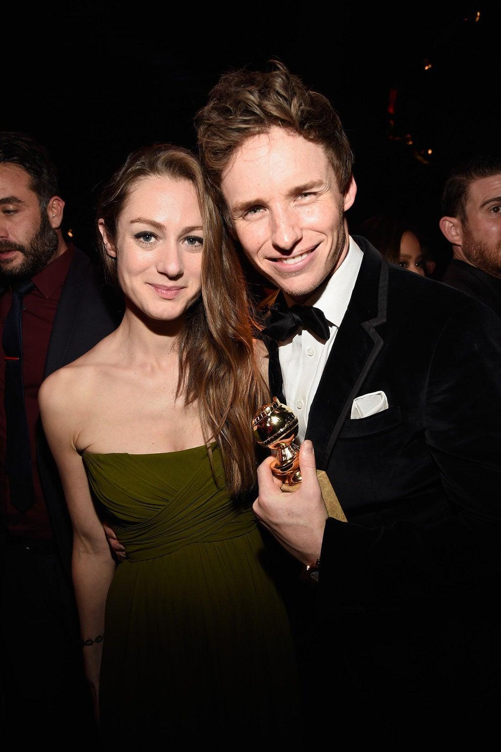 Eddie Redmayne et son épouse