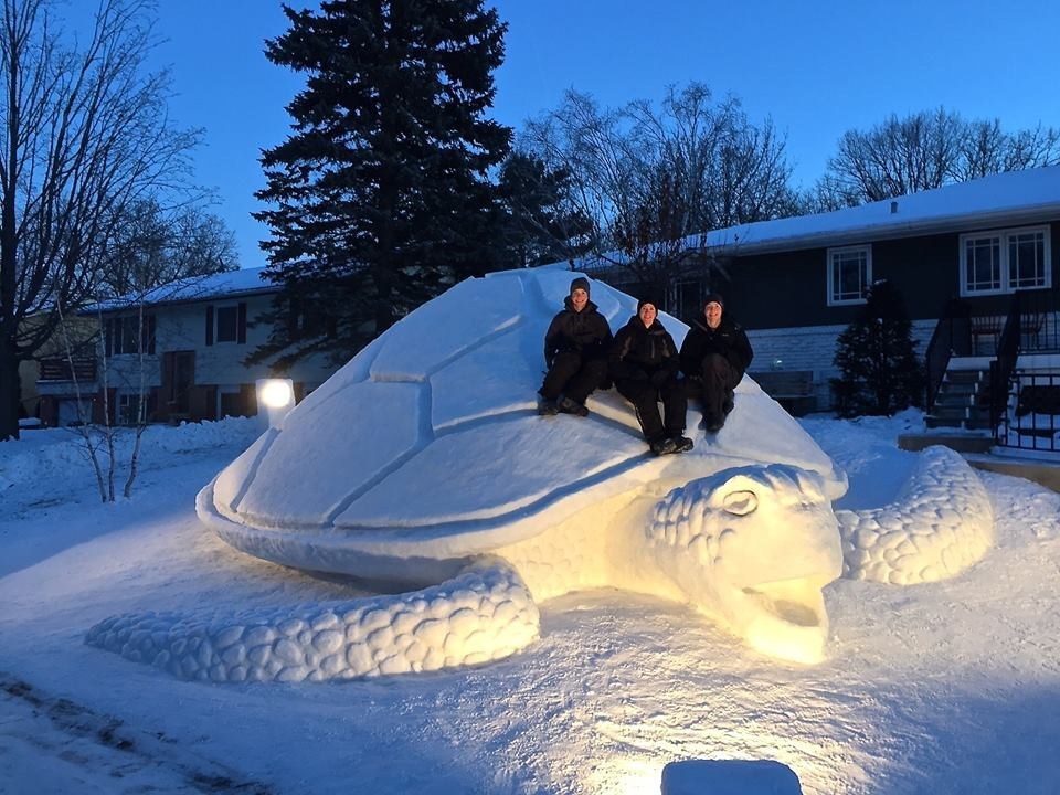 Three Brothers Have Been Making Mind-Blowing Snow Sculptures In Their Yard Every Year