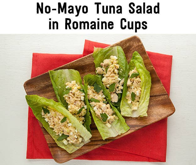 Add mayo if you want, but this tuna salad uses hard-boiled eggs instead, for an extra protein punch. Recipe and packing directions here.