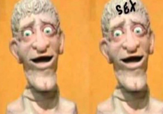 And finally there's our buddy Head from Art Attack!. He always seemed creepy, and now I understand why: