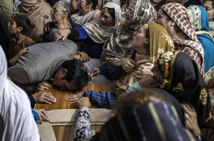 Iftikhar mourns his son Mohammed Ali Khan, 15, a student who was killed in the attack.