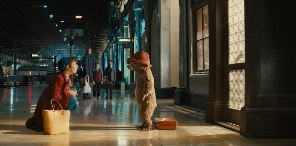 Mary Brown (Sally Hawkins) and Paddington (voiced by Ben Whishaw) in Paddington.
