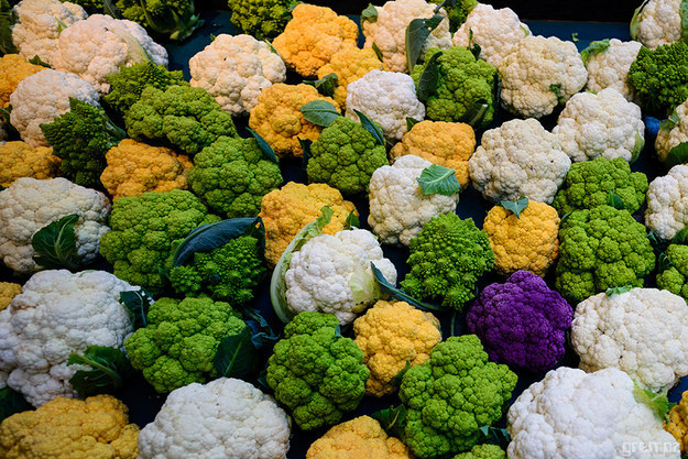 Cauliflower that likes Mardi Gras