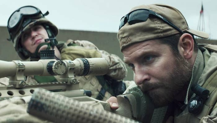 Kyle Gallner and Bradley Cooper in American Sniper