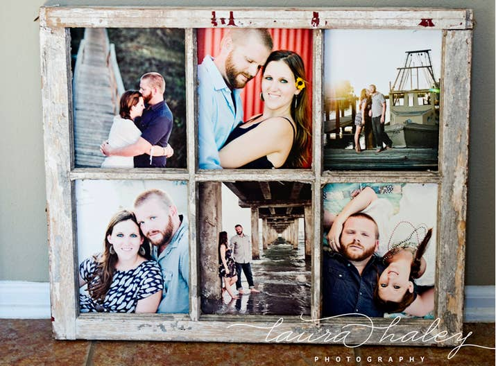 display photos in a vintage window frame - Window Frame Picture Frame