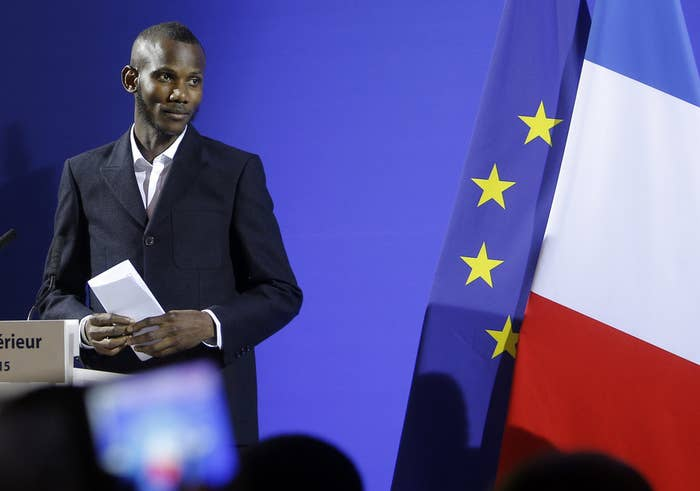 """Lassana Bathily, 24, was born in Mali and is Muslim. He was at work in the Porte de Vincennes grocery store on Jan. 9 when an Islamist gunman, later identified as Amedy Coulibaly, burst in, killed four people, and began taking hostages. Several customers ran into the basement, where Bathily turned off the walk-in freezer and its light. After hiding them there, he snuck outside to relay information to police. """"Yes, I aided Jews,"""" he told France's BFMTV after police rescued the surviving hostages. """"We're brothers. It's not a question of Jews, Christians, or Muslims. We're all in the same boat. We need to help each other to get out of this crisis."""""""