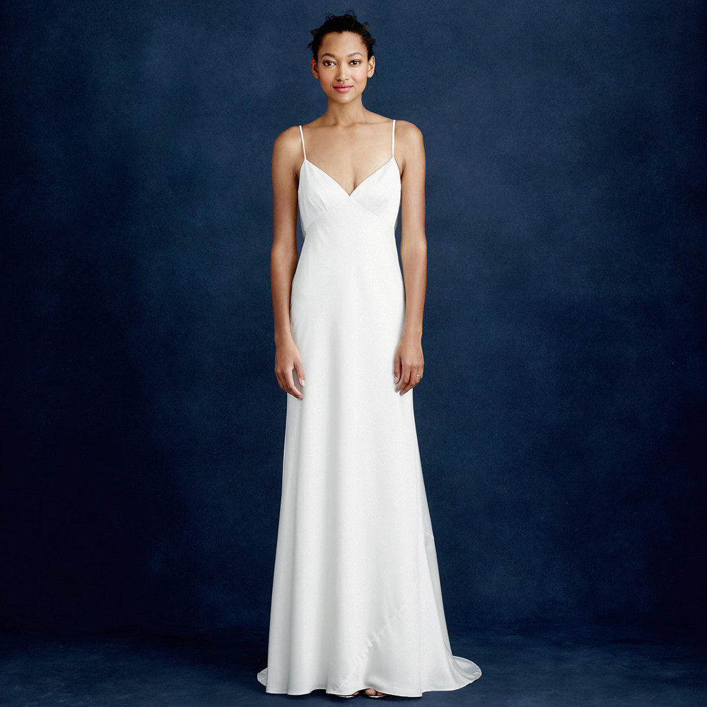 Cowl back wedding dresses