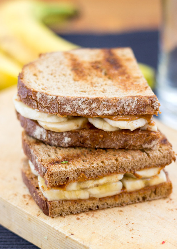 In theory: Banana = potassium, peanut butter = salt, and whole wheat bread = cysteine, an amino acid that (supposedly, maybe) helps you metabolize alcohol. In practice: It's fricking delicious. Get the recipe.