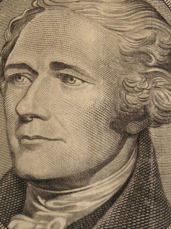 """The Alexander Hamilton story was the """"Brokeback Mountain"""" of its time. A lover and a fighter, during the Revolutionary war he wrote dozens of intimate, emotional letters to his fellow soldier, John Lauren. When Lauren was killed during battle (spoiler alert) a depressed Hamilton wrote, """"I feel the loss of a friend I truly and most tenderly loved."""" On a separate (but lucky for John Lauren) note, take a closer look at that $10 bill. Hamilton was a fox!"""