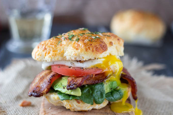 If the concept of (fast! easy!) DIY Cheddar Bay Biscuits doesn't sell you on this sandwich, I don't know what will. Get the recipe.