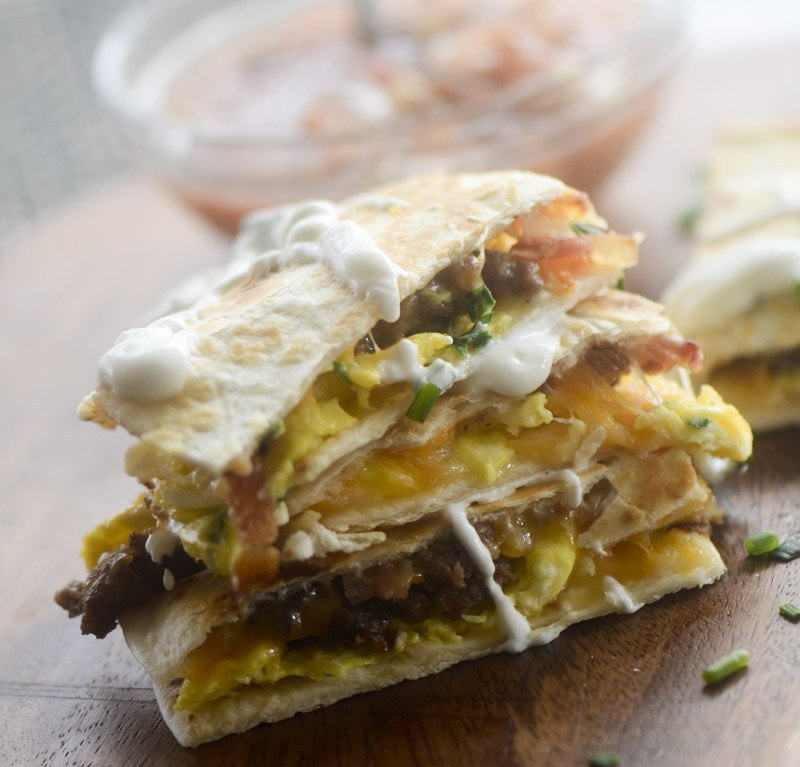 Bacon! Egg! And! Cheese! Quesadilla! Get the recipe.