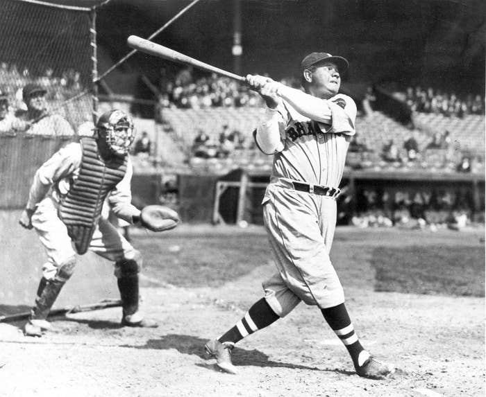 Babe Ruth in 1935.