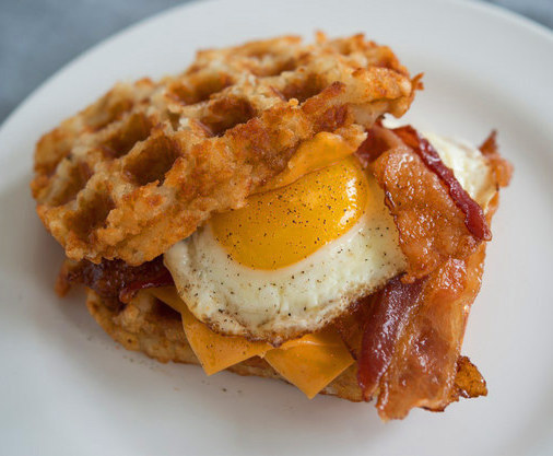 Cooking hash browns in a waffle iron!? WHAT COULD BE BETTER? Get the recipe.