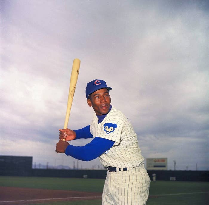 Chicago Cubs infielder Ernie Banks is pictured in 1967. (AP Photo/Harold Filan)