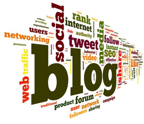 tag cloud featuring blog
