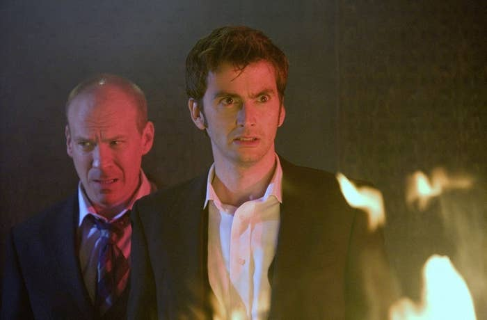 """David Tennant in """"Rise of the Cybermen""""/""""The Age of Steel"""" episodes of Doctor Who, first broadcast in 2006."""
