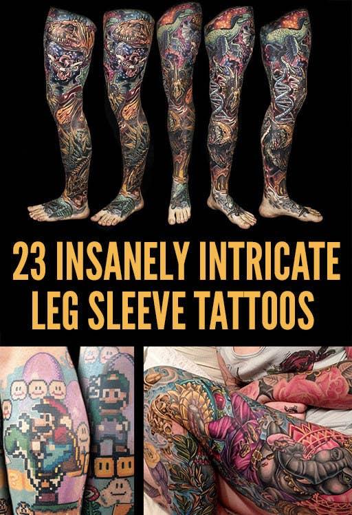 23 Insanely Intricate Leg Sleeve Tattoos