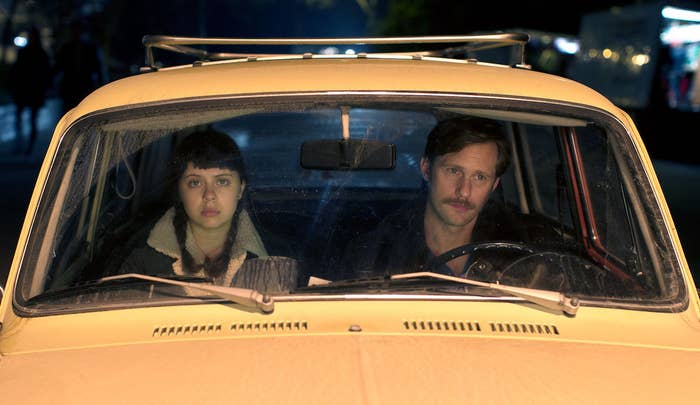 Bel Powley and Alexander Skarsgård in The Diary of a Teenage Girl