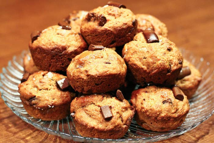 Do you know the whole wheat chocolate chip banana bread muffin man? That's a spoonful.