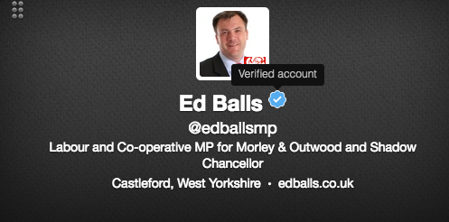 """Ed Balls, one of many MPs with """"MP"""" in his username."""