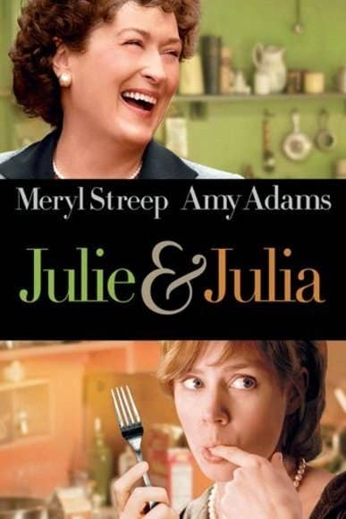 """Watch Julie, an average woman in post-9/11 New York, cook her way through Julia Child's """"Mastering the Art of French Cooking.""""Best thing about it: Stanley Tucci HELLOOOOOO (also Meryl Streep's Oscar-nominated turn as the effervescent Julia Child)Netflix on demand: No"""