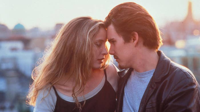 Julie Delpy and Ethan Hawke in 1995's Before Sunrise