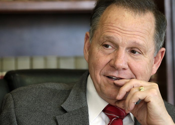 Alabama Chief Justice Roy Moore poses for a photo in his Montgomery, Ala., office.