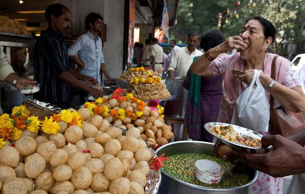 Image result for eating pani puri