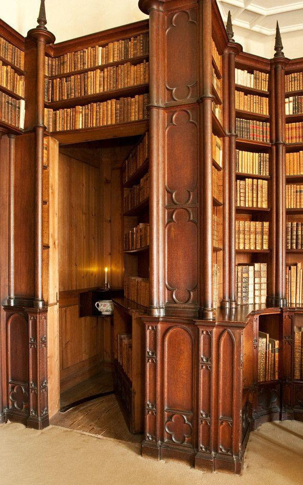Q: How cool would it be to have a secret library door outfitted with gray tablets? A: Not cool.